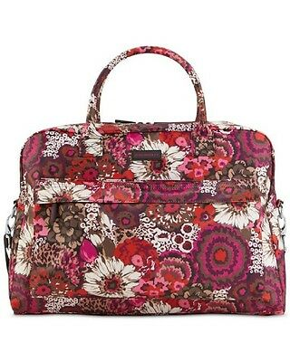 Womens Vera Bradley Large Duffel Perfect Companion Travel Bag Carry On Rosewood