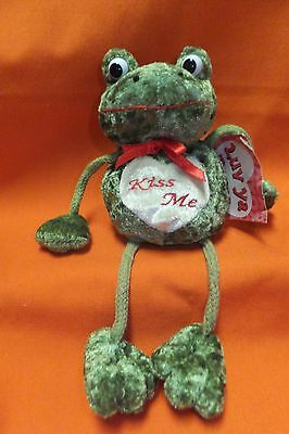 Frog With Dangling Feet Kiss Me Love Ya Bugs Computer Sitter Lucky Frog