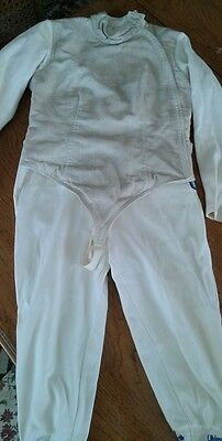 84' Fencing Uniform Lame Jacket & Knickers LA Olympics German Silver Medalist