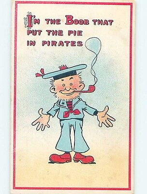 Pre-Linen comic SAILOR SAYS HE'S THE BOOB THAT PUT THE PIE IN PIRATES HL2814