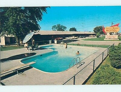 Damaged Pre-1980 MOTEL SCENE Lebanon Missouri MO hk1673