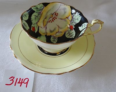 PARAGON  cup & saucer English bone china  Large POPPY Queen & Queen Mary