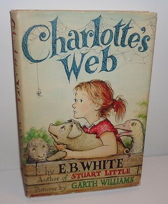 Vintage 1963 hardcover book, CHARLOTTE'S WEB E.B White, early edition A-M