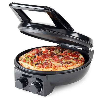 Electric Pizza Maker Oven Toaster Pan Cooker Non-stick Hot Plate Grill Stone New