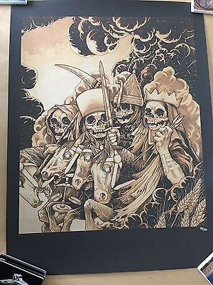 METALLICA  FOUR HORSEMAN Screen Print by John Baizley 99/200   Minneapolis
