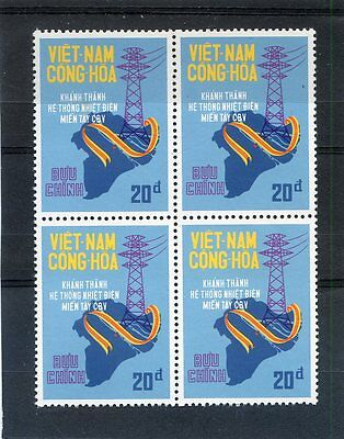 South Vietnam - 1975 - Unissued Stamps - Western Electricity MNH - Block 4