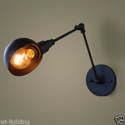 Fold Adjustable Black Ceiling Vintage Retro Chandelier Wall Light Lamp Fitting
