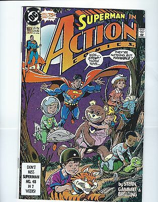 Superman In Action Comics Volume 1 #657 September 1990 VG Very Good Condition