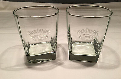 Jack Daniel's Old No.7 Glasses Square Base Set of 2