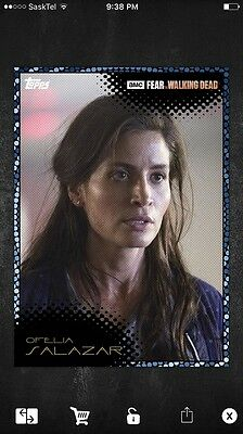 Topps  Fear The Walking Dead Card Trader Close Up Ofelia Wave 3