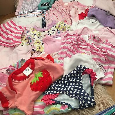 Baby Clothes Girls Bulk 34 Items Pants Jumpsuits Tops Swimmers Singlets