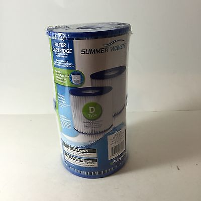 Polygroup Summer Waves Universal Pool Filter Cartridge Type D, 2 Filters