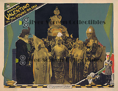 The Young Rajah - Rudolph Valentino - Vintage Lobby Card