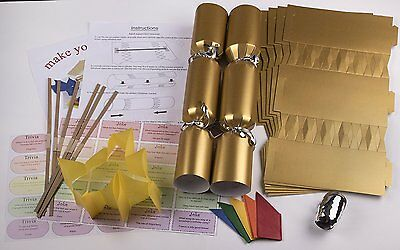 "10 X Make your own Large 14"" / 35cm cracker kit - Gold"