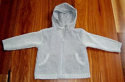 Fred Bare Baby Boys Zip Front Hooded Jacket Sz  6 - 12 Months Fully Reversible