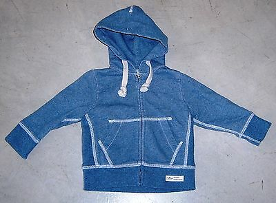 Country Road Baby Boys Blue Zip Front Hooded Jacket Sz  3 - 6 Months