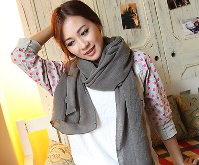 Pretty Fashion Solid Color Soft Women Ladies Imitation Cashmere Scarf Shawl Wrap