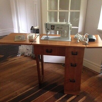 Vintage Singer Sewing Machine and Storage Cabinet Fully Restored