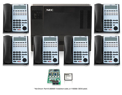 NEC SL1100 Phone System  As New 24 Digit Hand Sets
