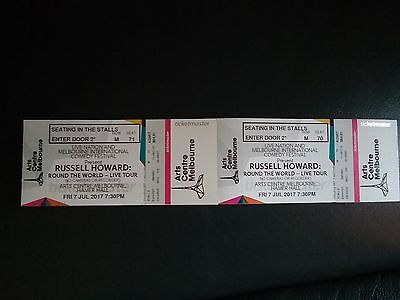 Russell Howard tickets x2 Melbourne July 7 seated