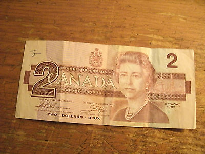 Two Dollars Bank Of Canada Note