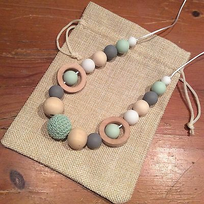 Sensory Teething Necklace, 82cm Parent & Bub Nursing, Natural, Quality Hand Made