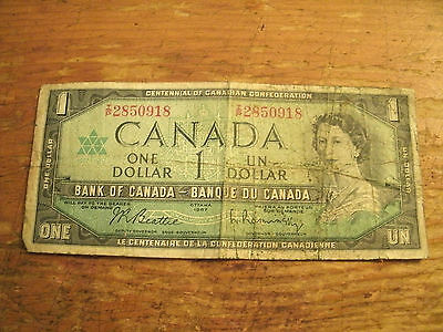One Dollar Bank Of Canada Note