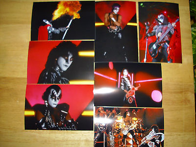 kiss-Lot 10G ( 7 ) 4X6 Color Photo's.Great shots Eric Carr Gene Simmons.