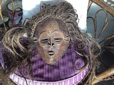 Vintage Papua New Guinea Mask With Hair