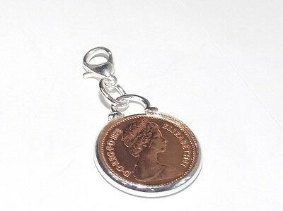 1977 half pence Coin 40th Birthday / Anniversary bracelet charm