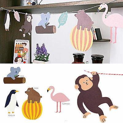 New Cute Monkey Hanging Paper Flags Baby Shower Banner Bunting DIY Decor Garland