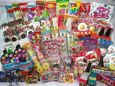 Japanese Dagashi Set japan popular candy okashi snack sweets lots 100pcs