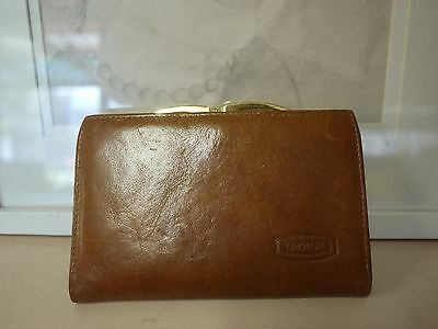 OROTON Tan Leather Vintage Wallet in GUC