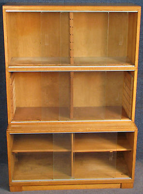 Minty Oxford Light Oak 3 Tier Stacking Sectional Bookcase / Cabinet