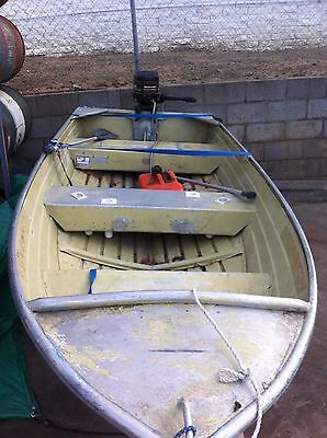 12 Foot Aluminium Tinnie with Trailer and outboard