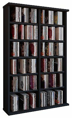 VCM CD/ DVD Ronul Tower without Doors, Black