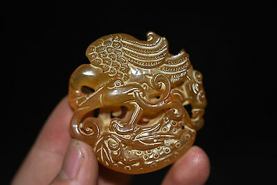 Chinese antique Jade hand-carved Statue Pendants Amulet C5