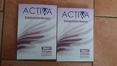 Activa Compression Hosiery Class 1 Below Knee Black Small
