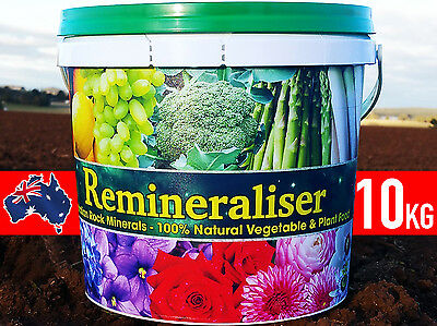 REMINERALISER MINERAL ROCK DUST ORGANIC PLANT VEGETABLE GARDEN FERTILISER 5/10kg