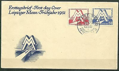 DDR FDC MiNr. 282-283 (Messe 1951)