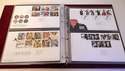 Royal Mail GB First Day Cover Stamp Collection In Album 60 Covers 2004 to 2007