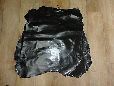 Italian Soft Black Leather Piece Off Cuts Top Quality Hide for Craft Projects