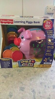 Fisher-Price Laugh And Learn Learning Piggy Bank New In Box