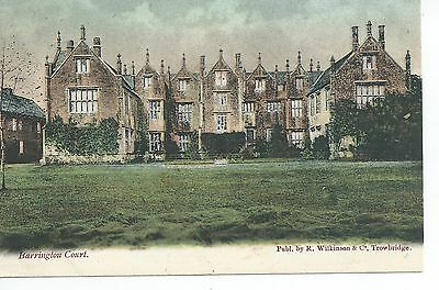 Printed postcard   Barrington court nr Ilminster Somerset in very good condition