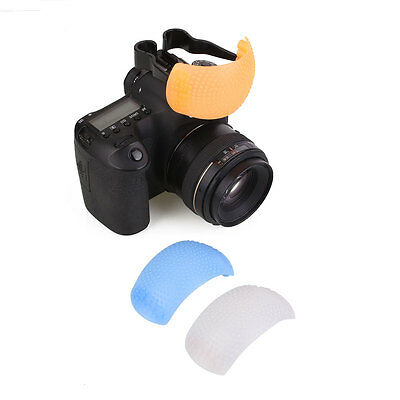 3 Color Puffer Pop-Up Flash Soft Diffuser Dome For Nikon Camera Universal