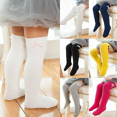 AU Baby Girl Cotton Knee High Socks Kid Sheer Autumn Winter Long Tights Stocking