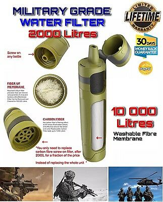 Military Water Purification Filter System Filters +2000 litres +FREE DELIVERY