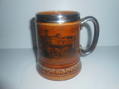 Lord Nelson Pottery KEIGHLEY & WORTH VALLEY RAILWAY  Ceramic Tankard / PERFECT