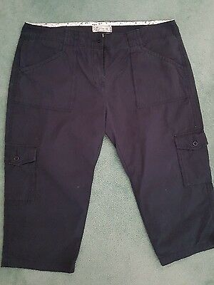 FAT FACE Ladies Cargo Trousers - Blue - Size 16