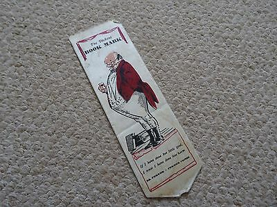 Vintage Mr Pickwick Silk Bookmark 7 Inches Long